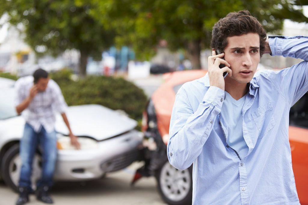 man calling lawyer