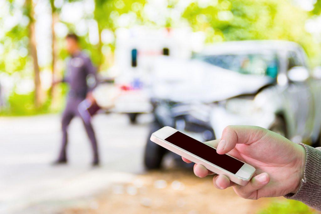filing a report using phone